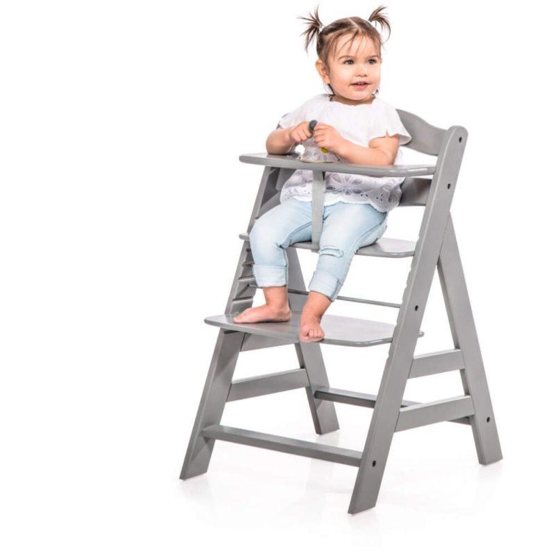 Hauck Alpha+ Grey Wooden Highchair