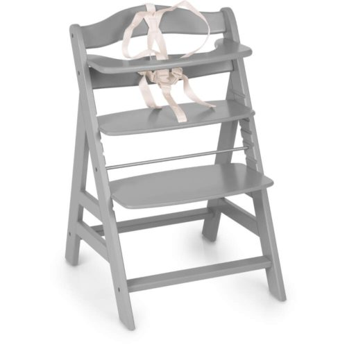 Hauck Alpha+ Grey Wooden Highchair