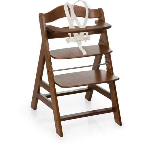 Hauck Alpha+ Walnut Wooden Highchair
