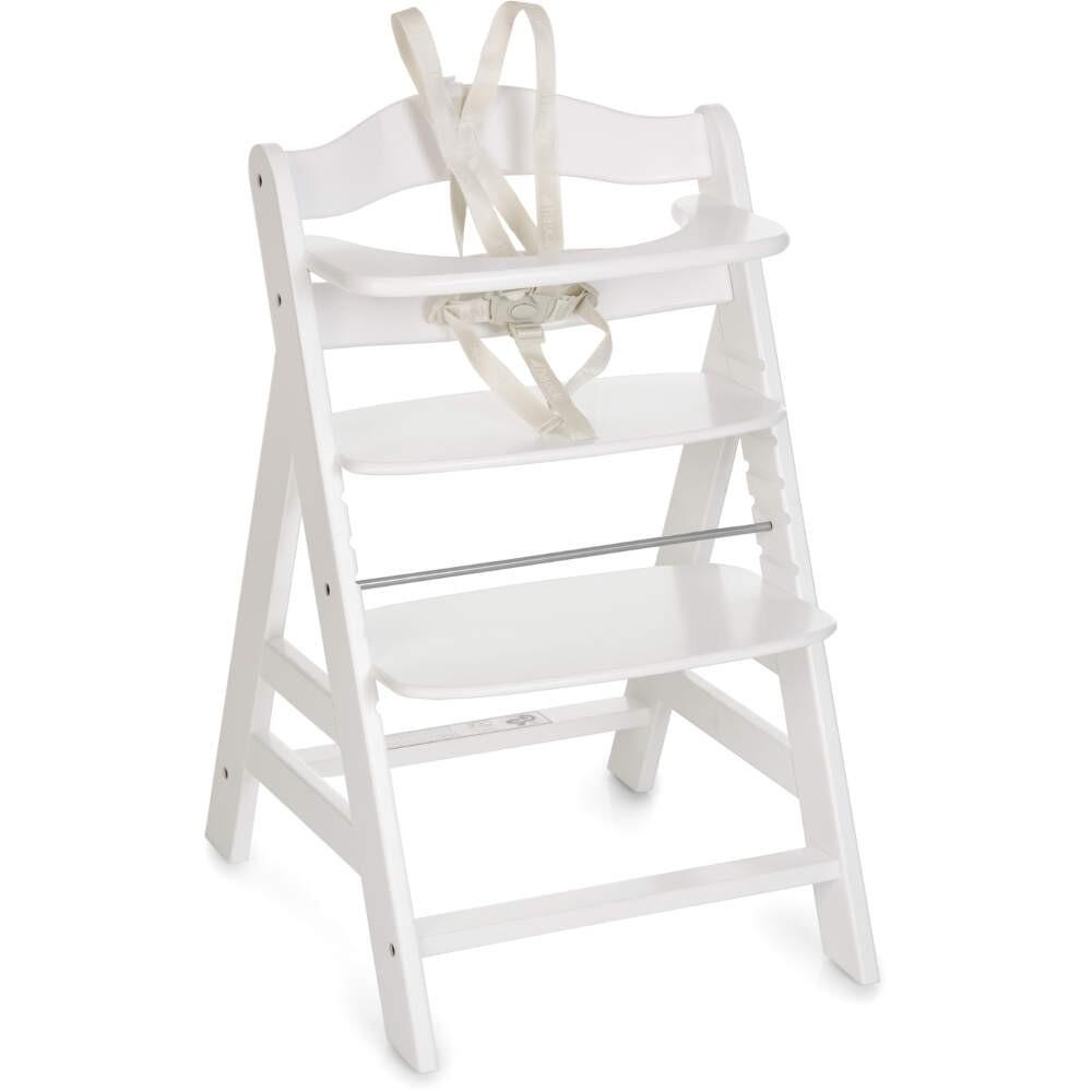 Hauck Alpha+ White Wooden Highchair