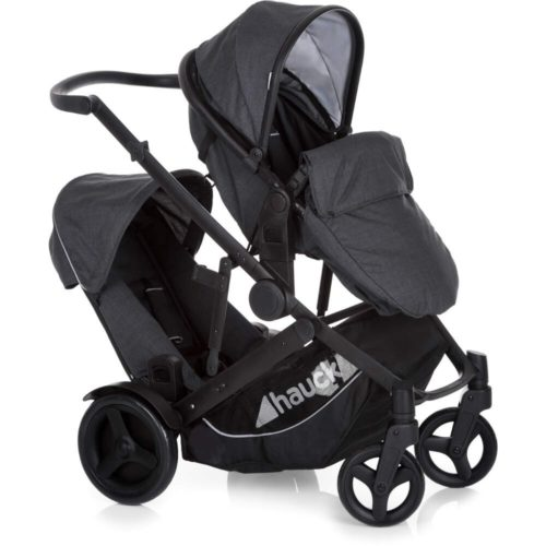 Hauck Duett 3 Tandem Pushchair - Melange Black