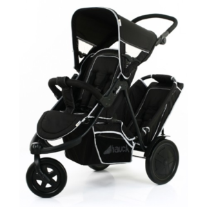 Hauck-Freerider-In-Line-Tandem-Double-Buggy-Inc.-Raincover-Black