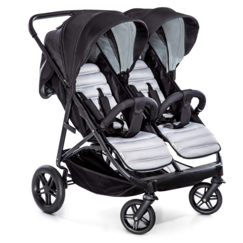 Hauck Rapid 3R Duo Stroller - Silver/Charcoal