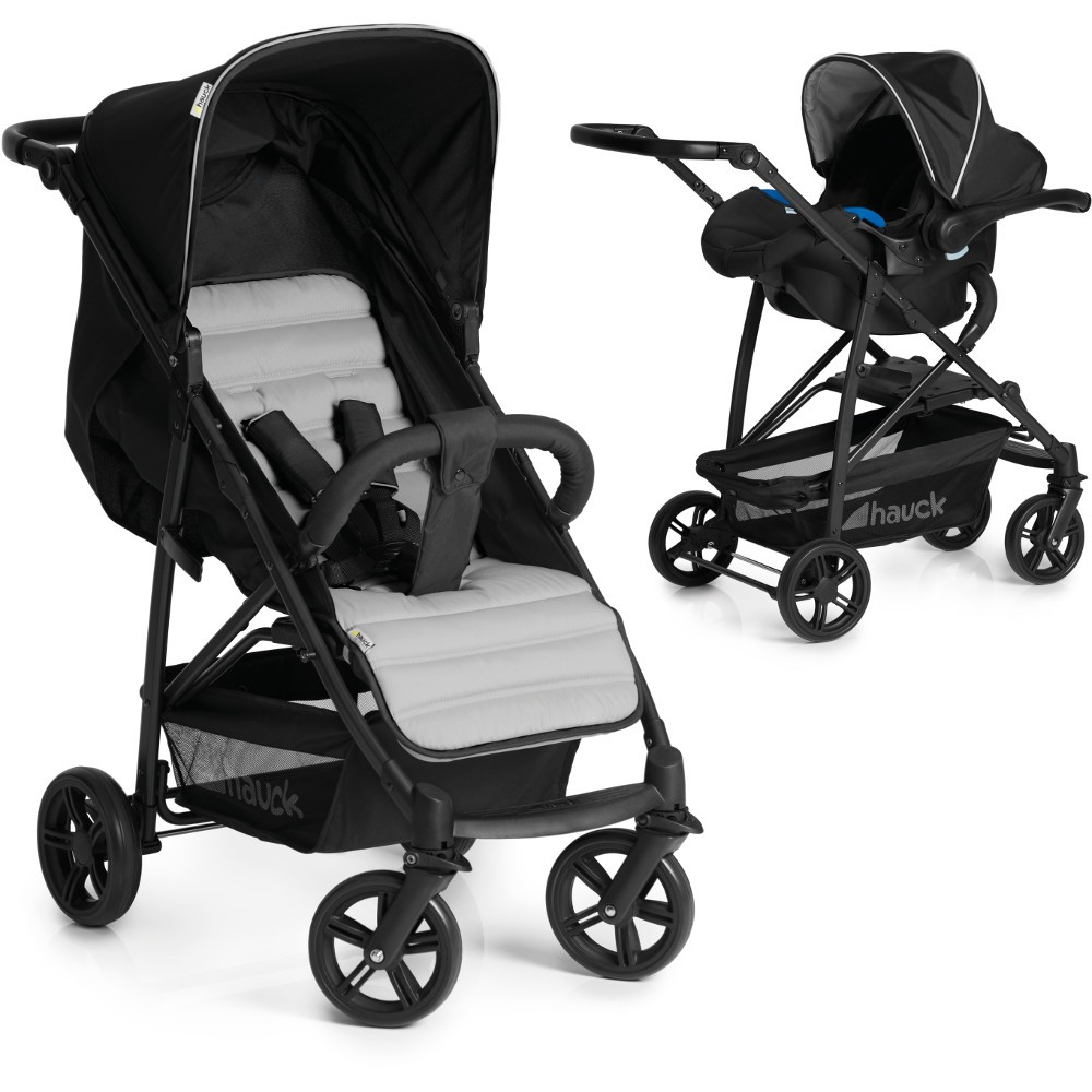 hauck rapid 4 plus shop n drive set caviar silver baby and child store. Black Bedroom Furniture Sets. Home Design Ideas