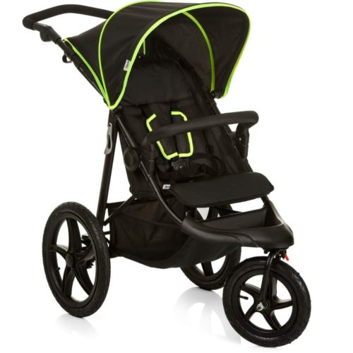 Hauck Runner Black Neon Yellow