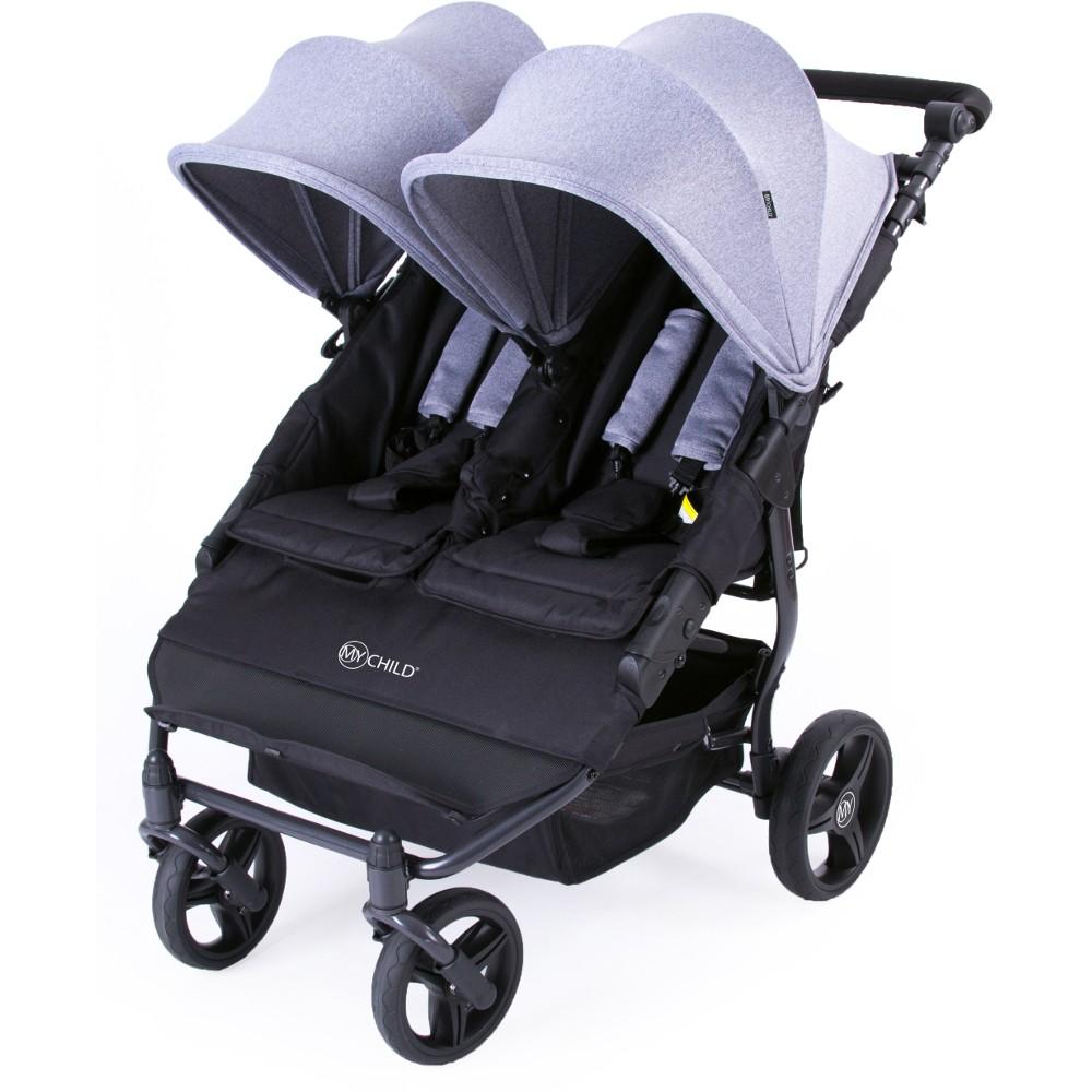 My-Child-Easy-Twin-Stroller-Grey