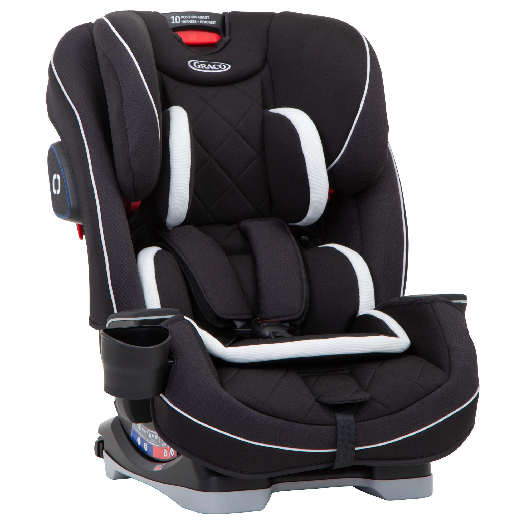 da7cc8b9699f Graco Slimfit LX Group 0+123 Car Seat - Midnight Black - Baby and ...