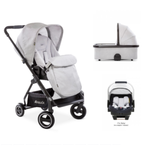 Hauck Apollo 3 in 1 Newborn Travel System Builder- Lunar