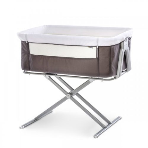 Hauck Face to Me Grey Bedside Cot