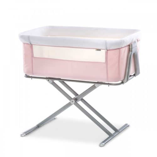Hauck Pink Face to Me Bedside Cot