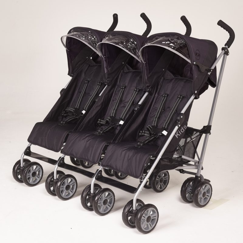 Kids Kargo Citi Elite Triple Stroller - Black
