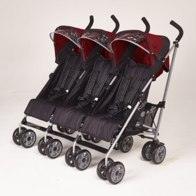 Kids Kargo Citi Elite Triple Stroller - Red