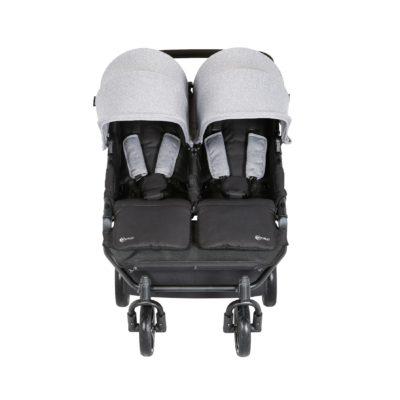 My Child Easy Twin Stroller Pram/Travel System Package - Grey