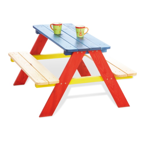 pinolino-Nicki-picnic-table-for-4-multicoloured