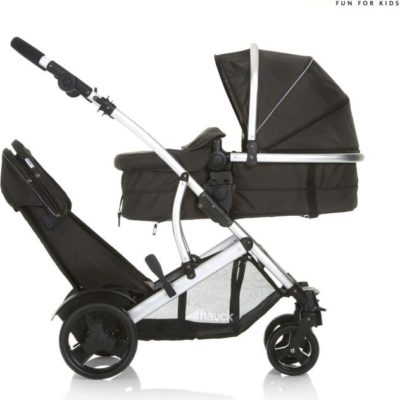 Hauck-Duett-Tandem-Double-Buggy-Inc.-Raincover-Black2