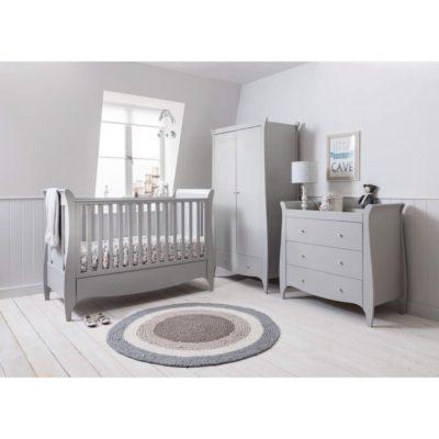 tutti bambini roma mini 3 piece nursery set dove grey
