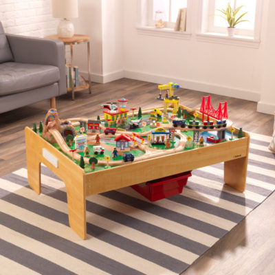 Kidkraft Adventure Town Railway Train Set with Table