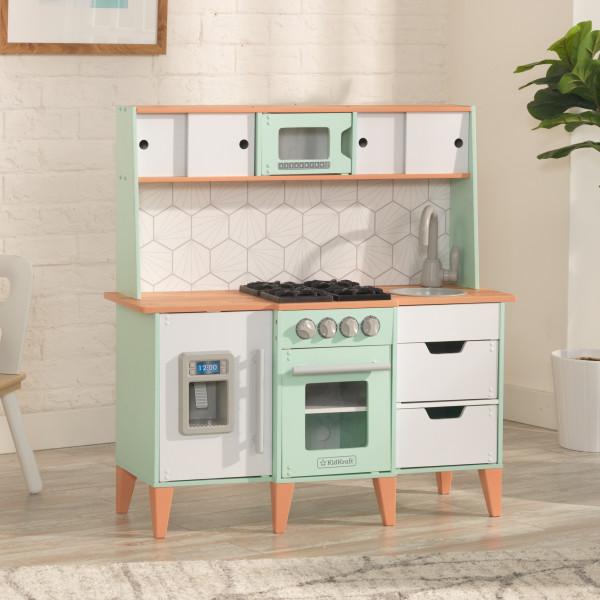 kidkraft mid-century modern play kitchen - baby and child