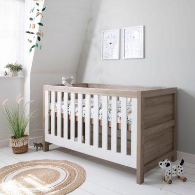 Tutti Bambini Modena Cot Bed/Mattress/Accessories - White Oak