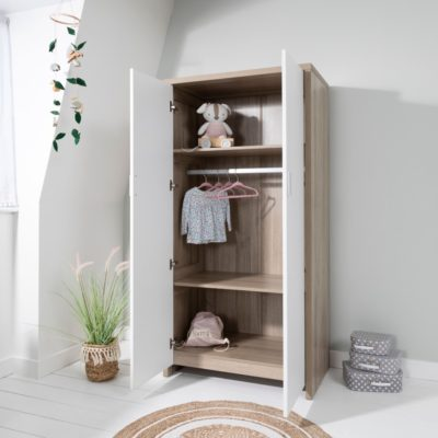 Tutti Bambini Modena Wardrobe - White Oak