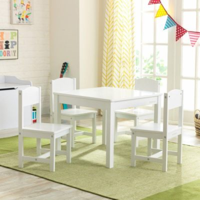 Kidkraft Farmhouse White Table and Chairs Set