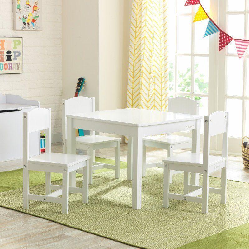 Kidkraft Farmhouse White Table and Chairs Set