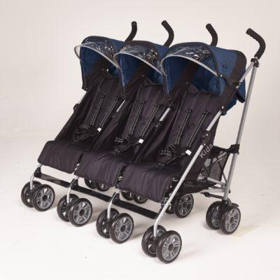 Kids Kargo Citi Elite Triple Stroller - Blue