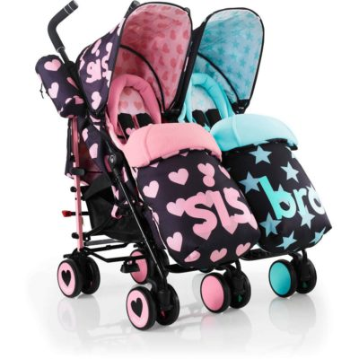 Cosatto Sis and Bro Supa Dupa Twin Stroller