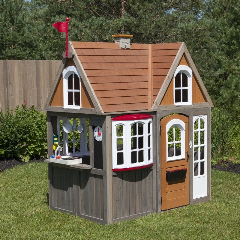 Brilliant Kidkraft Greystone Cottage Playhouse Beutiful Home Inspiration Xortanetmahrainfo