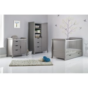 Obaby Stamford Sleigh 3 Piece Room Set Taupe Grey