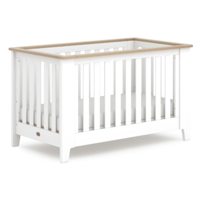 Boori Pioneer Expandable Cot Bed - Barley White and Almond