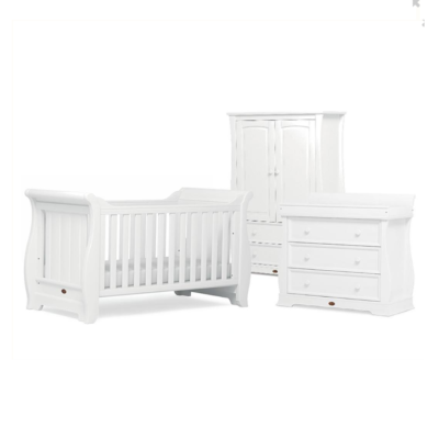 Boori Sleigh 3 Piece Room Set - Barley White