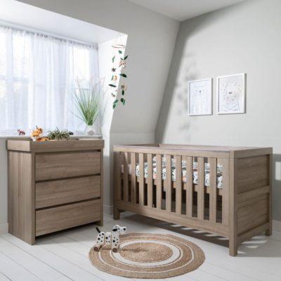 Tutti Bambini Modena 2 Piece Room Set/Mattress - Oak