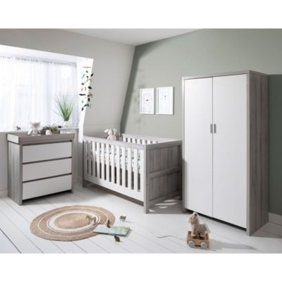 Tutti Bambini Modena Nursery Room Set Builder - Grey Ash/White