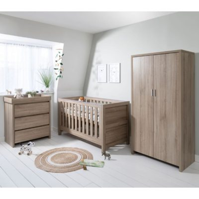 Tutti Bambini Modena 3 Piece Room Set/Mattress - Oak