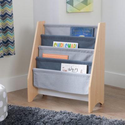 Kidkraft Gray/Natural Sling Bookshelf