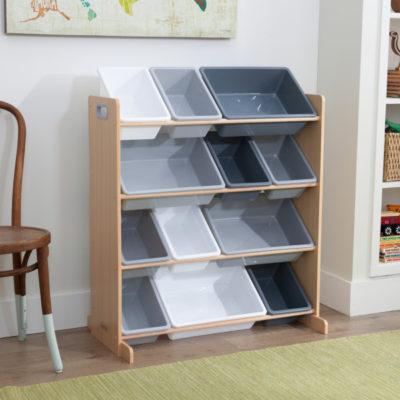 Kidkraft Sort It & Store it Bin Unit - Gray/Natural