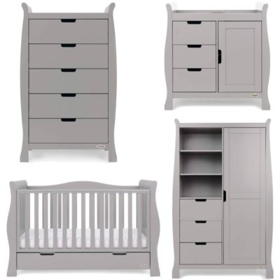Obaby Stamford Luxe 5 Piece Room Set - Taupe Grey