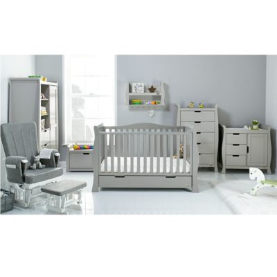 Obaby Stamford Luxe 7 Piece Room Set - Warm Grey plus Accessories