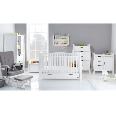 Obaby Stamford Luxe 7 Piece Room Set - White plus Accessories