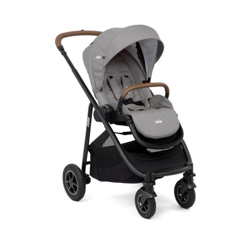 Joie Versatrax Grey Flannel Stroller plus accessories