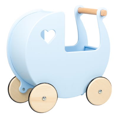 noover dolls pram blue