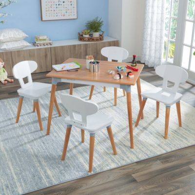 Kidkraft Mid Century Kid Table and 4 Chairs