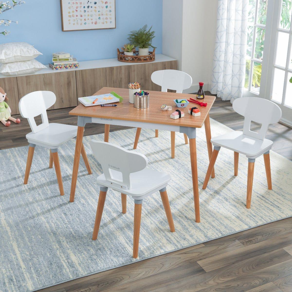 Kidkraft Mid Century Kid Table And 4