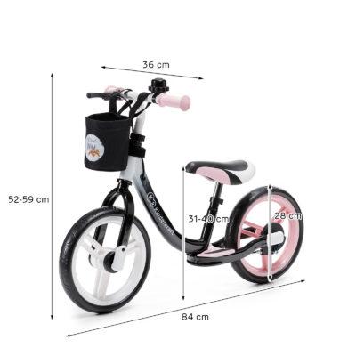 Kinderkraft Pink Space Balance Bike