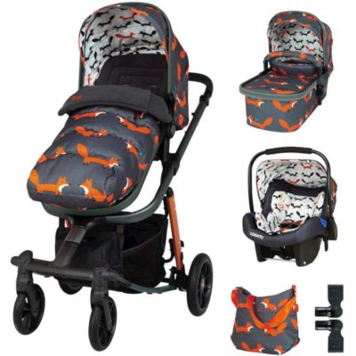 Cosatto Mister Fox Giggle Quad Travel System Bundle
