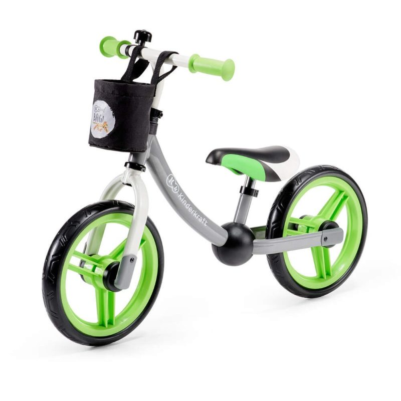 Kinderkraft Green/Grey 2 Way Next Balance Bike