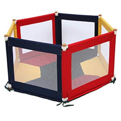 Liberty House Toys Colourful Hexagonal Fabric Playpen