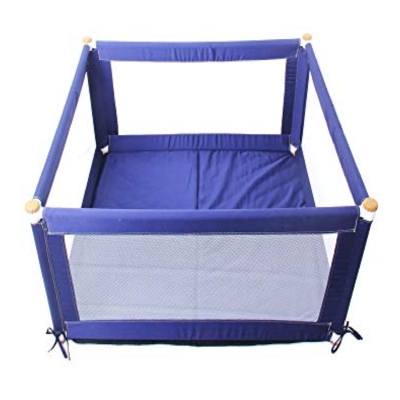 Liberty House Toys Blue Square Fabric Playpen
