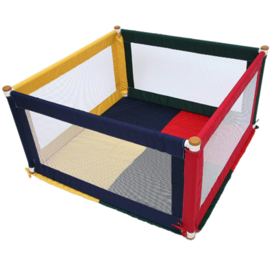 Liberty House Toys Colourful Square Fabric Playpen